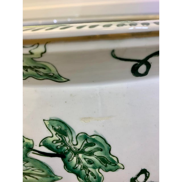 Leaf Motif Jardiniere For Sale - Image 4 of 13