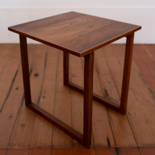 Rosewood Kai Kristiansen Nesting Cube Tables For Sale - Image 10 of 12