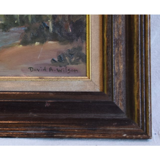 Mid 20th Century David A. Wilson Plein Air California Landscape Oil Painting For Sale - Image 5 of 10