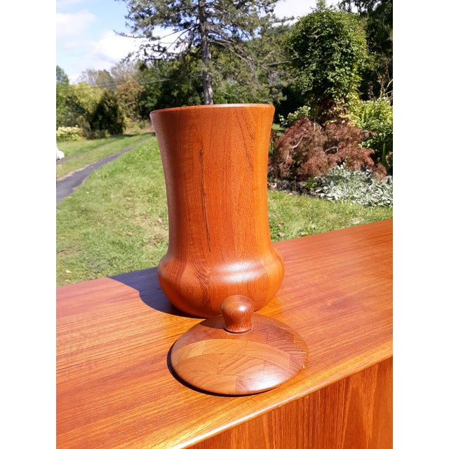 Wood 1960s Digsmed Danish Teak Ice Bucket For Sale - Image 7 of 8