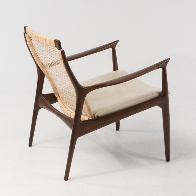 Selig Mid Century Modern Ib Kofod Larsen Selig Armchair For Sale - Image 4 of 13