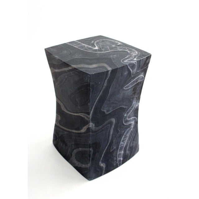 Black Beslana Block Side Table - Black Marble For Sale - Image 8 of 9