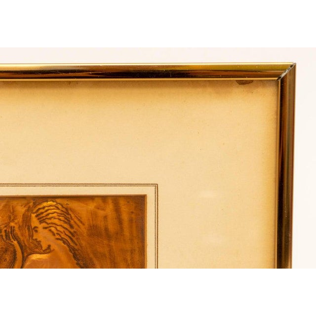 Metal American Art Deco Embossed Copper Plate Bas Relief of a Reclining Nude Female 1930s For Sale - Image 7 of 9