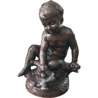 Antique Bronze Sculpture After Auguste Moreau
