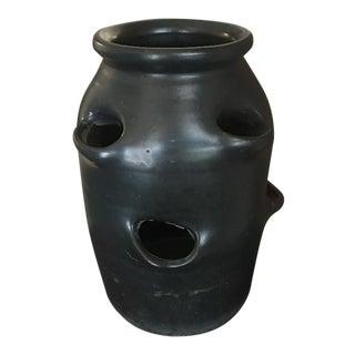 Vintage Black Strawberry Pot For Sale