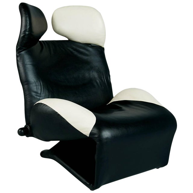 """1980s Toshiyuki Kita """"Wink"""" Lounge Chair for Cassina, Italy For Sale"""
