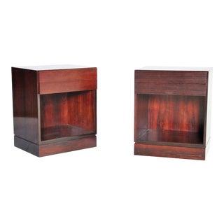 Pair of Danish Modern Rosewood Nightstands For Sale