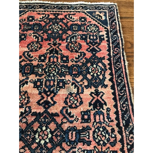 Islamic Blush and Navy Persian Rug For Sale - Image 3 of 10