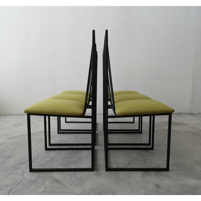 Contemporary Set of 6 Postmodern Memphis Milano Minimalist Style Dining Chairs For Sale - Image 3 of 10