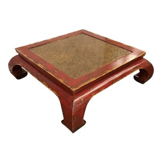 Rustic Ming Style Red Coffee Table
