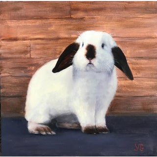 """""""Snowflake"""" Bunny Original Oil Painting For Sale"""