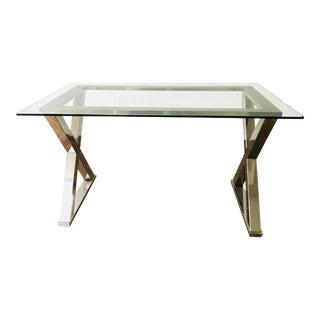 Pottery Barn Ava Glass & Silver Desk