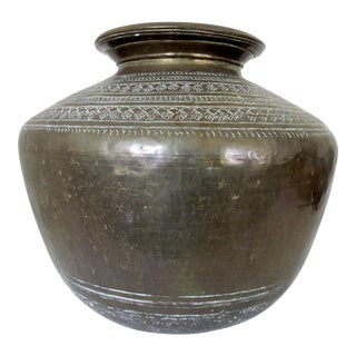 Large Antique 'Anthemion' Persian Water Vessel/Pot