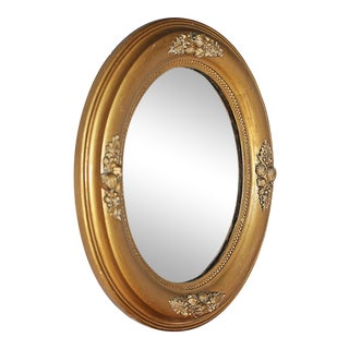 Antique Oval Gilt Mirror For Sale
