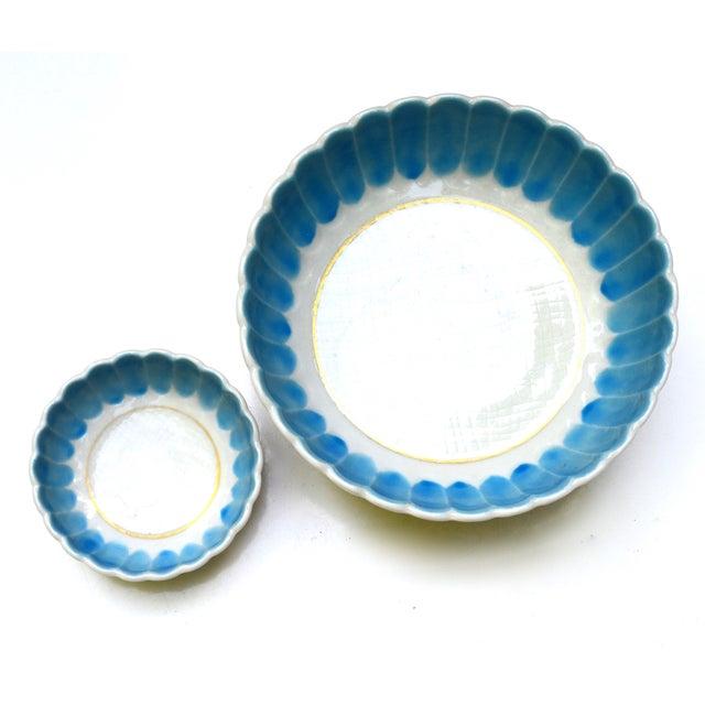 1950s Turquoise Nesting Bowls - Set of 2 - Image 4 of 5