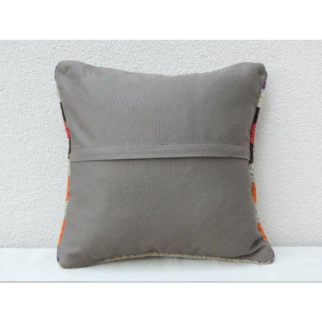 1990s Handmade Turkish Kilim Pillow For Sale - Image 5 of 6