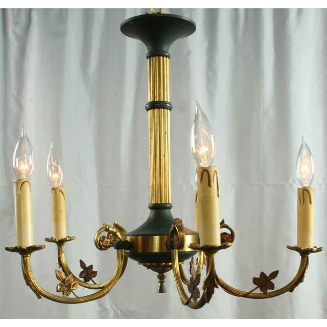 Vintage French Empire Chandelier Circa 1950 - Image 2 of 8