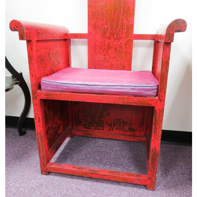 """Tall Asian Alter Chair 81""""High - Image 4 of 6"""