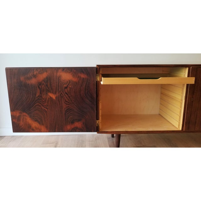 Mid 20th Century Mid-Century Modern Fully Restored Poul Hundevad Rosewood Sideboard For Sale - Image 5 of 13