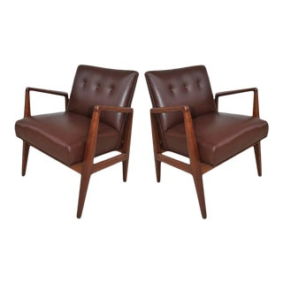 Restored Vintage Mid-Century Jens Risom Lounge Chairs - a Pair For Sale