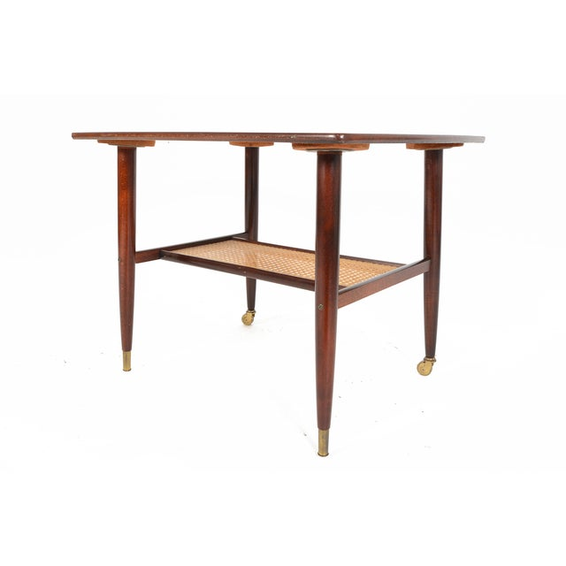 Danish Modern Rosewood Side Table With Rack - Image 2 of 7