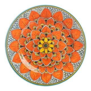 Dinnerware Plate Burnt Orange Peacock Design, Geribi For Sale
