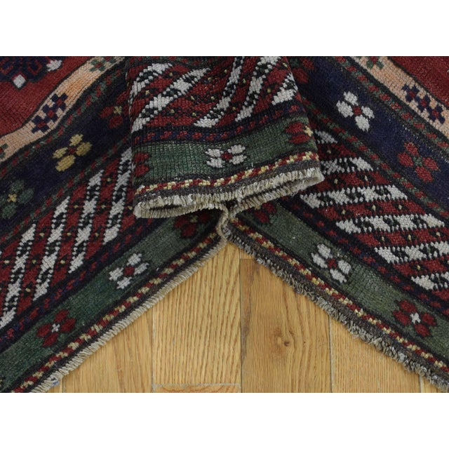 Antique Caucasian Kazak Hand Knotted Rug- 5′9″ × 8′5″ For Sale In New York - Image 6 of 13