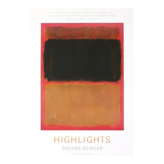 Mark Rothko, Highlights, Offset Lithograph, 1972 For Sale