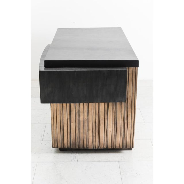 Contemporary Blackened Steel and Layered Bronze Desk, Usa, 2019 For Sale - Image 3 of 13