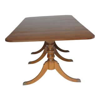 1940s Tradiitonal Monumental 2 Leaf Duncan Phyfe Dining Table For Sale