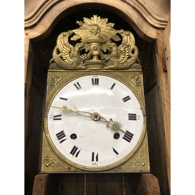Wood Mid 19th Century French Louis XV Bleached Walnut Vaisselier Clock For Sale - Image 7 of 8