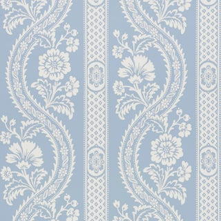 Schumacher Versailles Wallpaper in Blue Preview