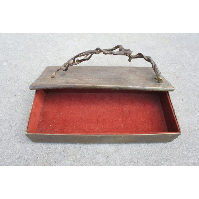 Mid 20th Century Brutalist Bronze Box For Sale - Image 5 of 5