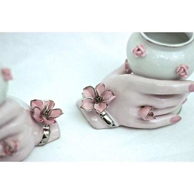Holding Hands Vases - A Pair - Image 5 of 7