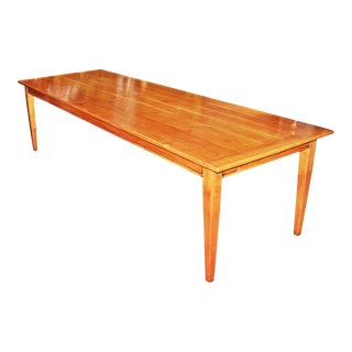 Vintage French Country Cherry Farm Table For Sale