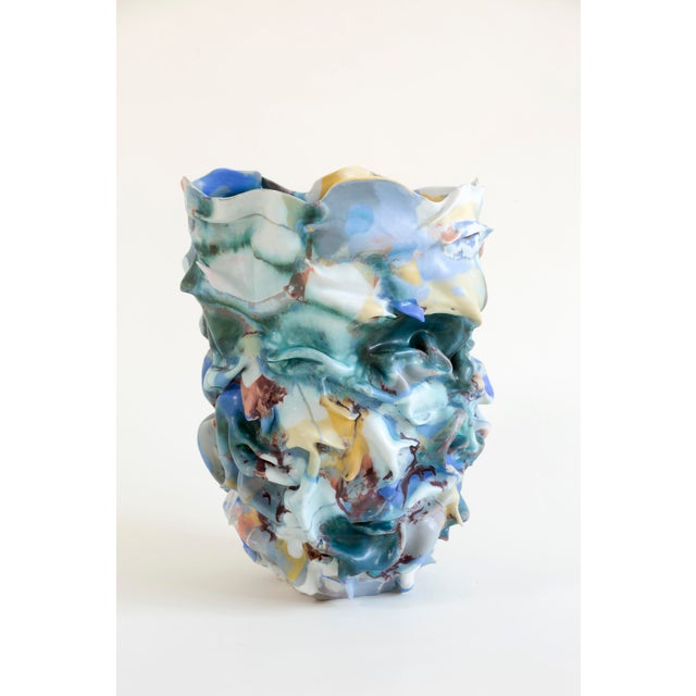 Blue La Femme Au Chapeau Sculptural Porcelain Vase by Babs Haenen, Inspired by Henri Matisse For Sale - Image 8 of 8