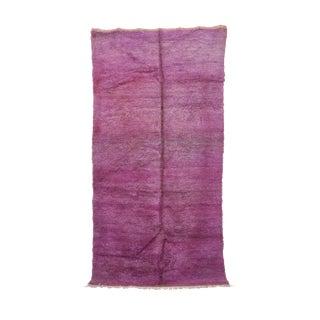 1970s Vintage Moroccan Beni M'guild Rug - 5′6″ × 10′8″ For Sale