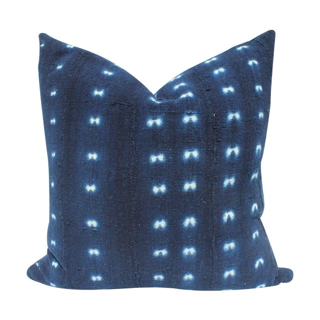 Vintage Indigo Mali Mudcloth Pillow - Image 1 of 3