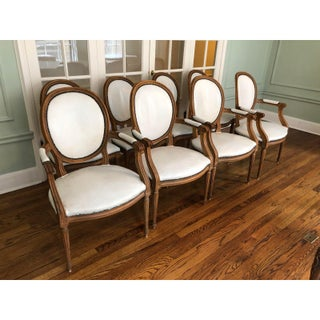 Baker Furniture Leather Dining Chairs - Set of 8 Preview