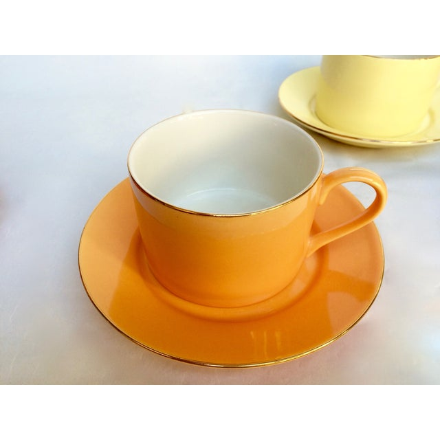 Sherbet-Hued Teacups & Saucers - Set of 6 - Image 7 of 10