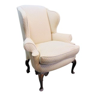 Queen Anne English Style Wing Chair For Sale