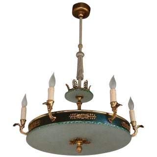 """1940s Gustavian Bohlmarks """"Plafond"""" Hanging Fixture For Sale"""