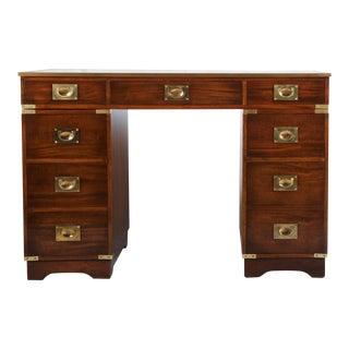 British mahogany campaign desk