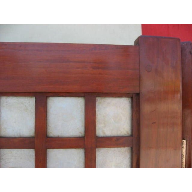 Mid-Century Modern Mid-Century Four Panel Abalone and Mahogany Screen For Sale - Image 3 of 6