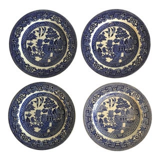 Blue Willow Plates - Set of 4