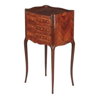 20th Century Louis XV Marquetry Bedside Chest of Drawers For Sale