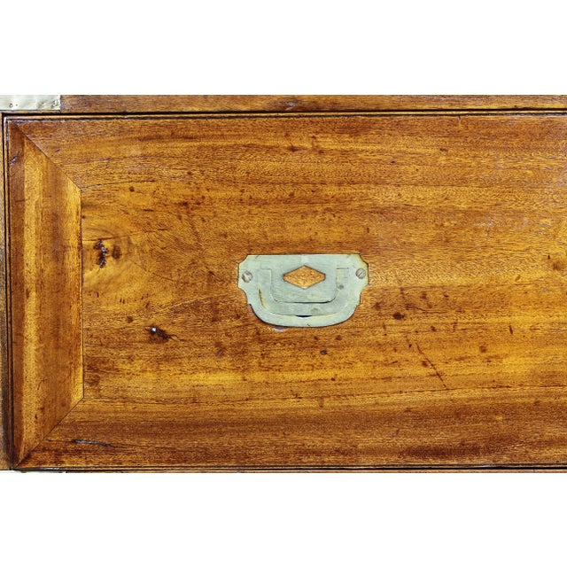 Early 19th Century Regency Campaign Mahogany Chest For Sale - Image 5 of 11