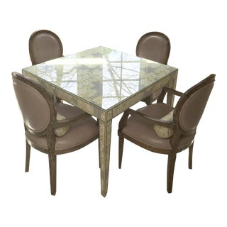 Custom Game Table With 4 Oly Chairs For Sale