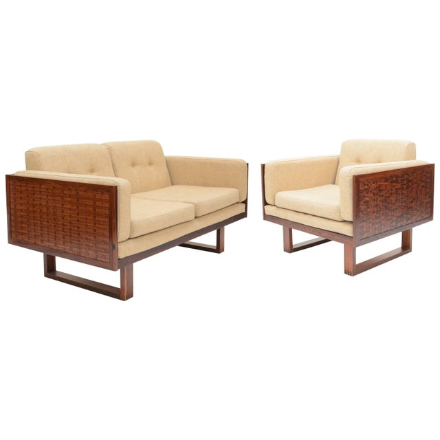 Poul Cadovius Two-Seat Sofa and Chair Set in Rosewood for France & Son For Sale - Image 10 of 10