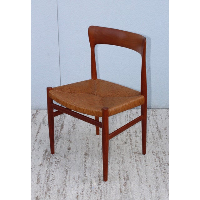 1950's Danish Teak Sculptural Dining Chairs - Set of 6 For Sale - Image 9 of 13